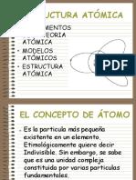 EL ATOMO Y LA ESTRUCTURA ATOMICA.ppt