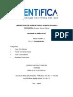 INFORME N° 2 CRISTALIZACION QUIMICA ORGANICA.docx