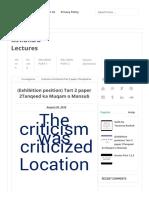 (تنقید کا منصب و مقام)Tart 2 Paper 2Tanqeed Ka Muqam o Mansub - MA.urdu Lectures