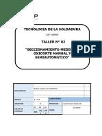 informe n°2 tecnologia de la soldadura