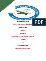 Tarea 2 de Seminariodel Nivel Inicial Cccccc