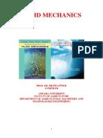 Week 9 of Aqs110 Fluid Mechanics