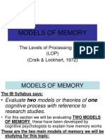 The Levels of Processing Model of Memory.ppt