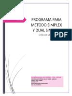 proyecto dual simplex