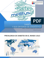 Criterios de diagnóstico de Diabetes Mellitus