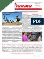 Diario Granma. 15 mayo 2019.