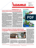 Diario Granma. 14 de mayo. 2019.