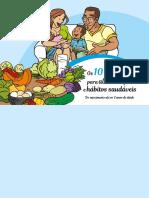 Os 10 passos para alimentação e hábitos saudáveis