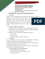 CASO CLINICO Meningoencefalitis