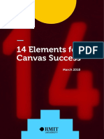 14 elements of RMIT canvas QA