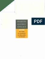 Pour un Québec efficace - Rapport Consultation Energie 1996