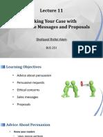 Shafquat Alam_BUS 251_Lec 10_Persuasive Messages and Proposals