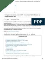 Company Secretary Journal 2019 - Download ICSI E-bulletin for Students & Members - Finance Updates 2019