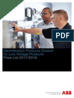 ABB Price List 2017-2018