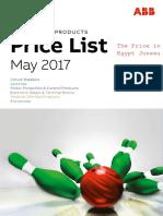 ABB Price List May 2017