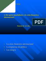02. Del Ajuste Inmobiliario a La Crisis Financiera Internacional (Copia en Conflicto de Fce 2013-04-03)