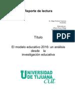 Reporte de Lectura. Cut 2016 Docx