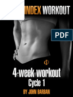 Venus Index Workout Cycle 1