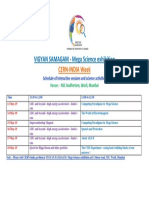 Schedule of Lectures During CERN India Week Updated_13May2019