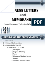 Business Letters and Memoranda