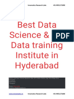 Top & Best Data Science, Big Data Training Institute in Hyderabad - Innomatics Research Labs - Kukatpally
