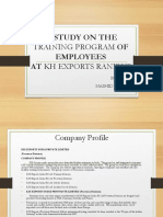 A Study on Training Program Employees