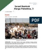 Pasukan Israel Bentrok dengan Warga Palestina.docx