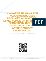 ID3e8c681ed-extensive reading for academic success advanced a university level topics on literature geography biology communication and anthropology archaeology