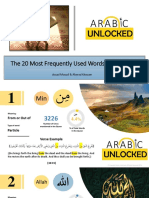 The 20 Most Frequently Used Words in the Quran (1)