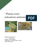 Plantas Como Bioindicadores Ambientales