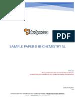 Ib Chemistry Sl Sample Paper 2