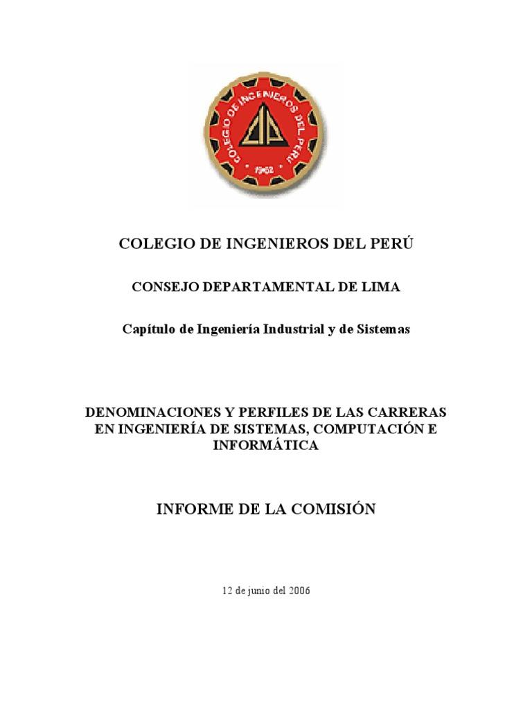 Ingenieria de Sistemas Peru - informecomision