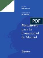 Manifiesto del PP para la Comunidad de Madrid