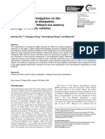 Optimization investigation on the liquid cooling heat dissipation structure for the lithium-ion battery package in electric vehicles