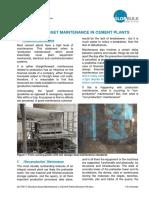 Structural Asset Maintenance Cement Plants