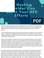 A Hosting Provider Can Boost Your SEO Efforts