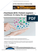 Flashback 2018_ Fintech Segment Continues to Enjoy the Purple Patch