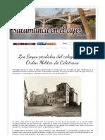 Los Goyas Perdidos Del Colegio de La Orden Militar de Calatrava. Salamanca