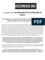 a vision for the spiritual life of a disciple of christ