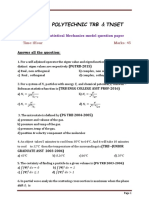 TRB Polytechnic Statistical Mechanics model question paper
