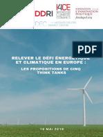 RELEVER LE DÉFI ÉNERGÉTIQUE ET CLIMATIQUE EN EUROPE