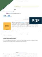 bill of exchange in sap