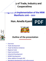 Ministry of Trade and Industry Presentation - Manifesto Week 2019