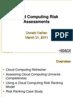 Cloud Computing Risks Assesment