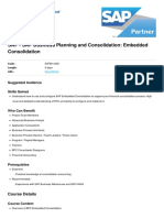 Sap Business Planning and Consolidation Embedded Consolidation