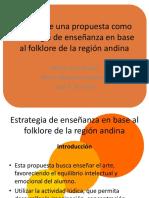 Diseño folclore andino colombiano