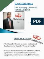 Anand mahindra presentation
