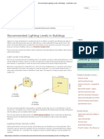 Recommended Lighting Levels in Buildings - Archtoolbox.com