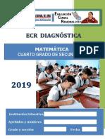 EVALUACIÓN CENSAL REGIONAL MATEMÁTICA 2° GRADO DE SECUNDARIA