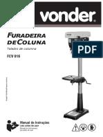 Manual de furadeira de coluna vonder